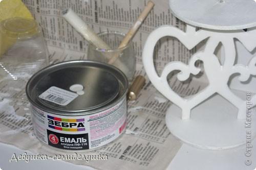 Поделка, изделие Выпиливание: Лавандовая свадьба: подсвечники для семейного очага + Мастер-класс Краска, Фанера Свадьба. Фото 18