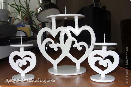 Поделка, изделие Выпиливание: Лавандовая свадьба: подсвечники для семейного очага + Мастер-класс Краска, Фанера Свадьба. Фото 20