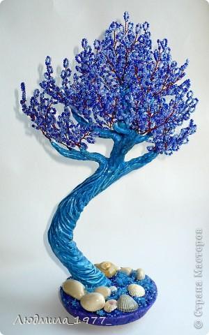 Бонсай, топиарий Бисероплетение: Дерево повторюшка!+мини МК Бисер. Фото 2