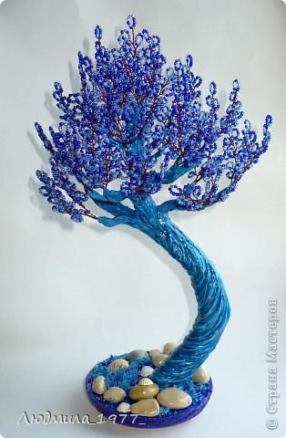 Бонсай, топиарий Бисероплетение: Дерево повторюшка!+мини МК Бисер. Фото 1