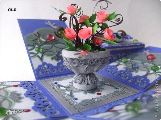 Мастер-класс, Поделка, изделие Квиллинг: Мой любимый Розовый куст. МК Бумага, Бумага гофрированная, Бумажные полосы. Фото 37