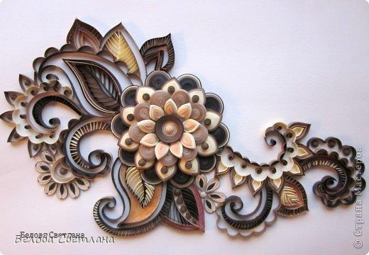Картина, панно, рисунок Квиллинг: Менди для Хомячка + МК цветочка!!! Бумажные полосы. Фото 1
