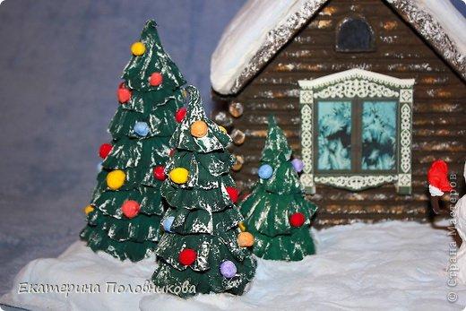 Поделка в детский сад Бисер, Бумага, Вата, Гуашь, Картон, Клей, Коробки, Материал природный, Пластилин Новый год, Рождество. Фото 13