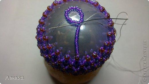 Мастер-класс Бисероплетение: Новогодние шары Бисер Новый год. Фото 27