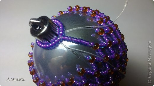 Мастер-класс Бисероплетение: Новогодние шары Бисер Новый год. Фото 32