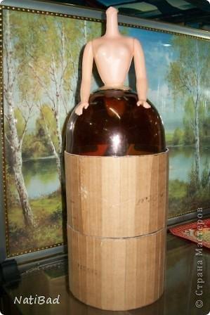 Мастер-класс Моделирование: Двух ярусная шкатулка Бутылки пластиковые, Картон, Клей, Кружево Отдых. Фото 8
