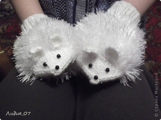 Мастер-класс Вязание: Варежки-Мышки Пряжа. Фото 1