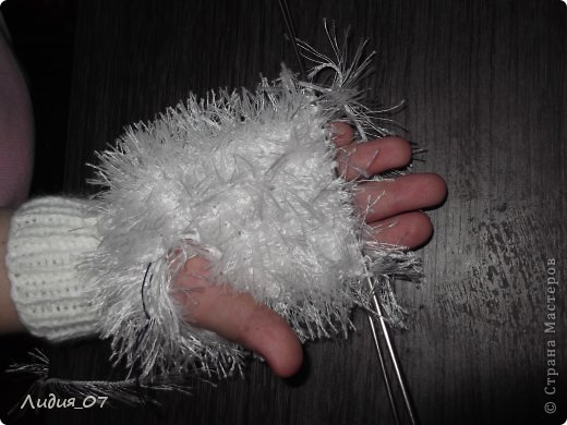 Мастер-класс Вязание: Варежки-Мышки Пряжа. Фото 12