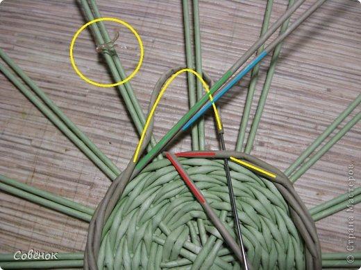 Мастер-класс Плетение: МК - Шкатулка из бумаги. Бумага газетная, Трубочки бумажные. Фото 13