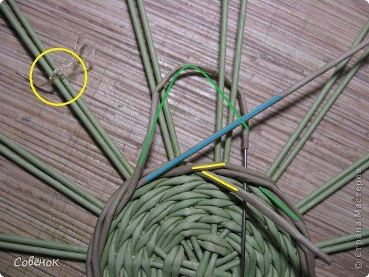 Мастер-класс Плетение: МК - Шкатулка из бумаги. Бумага газетная, Трубочки бумажные. Фото 15