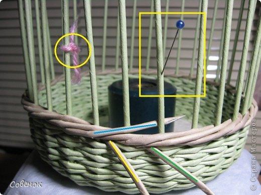 Мастер-класс Плетение: МК - Шкатулка из бумаги. Бумага газетная, Трубочки бумажные. Фото 35