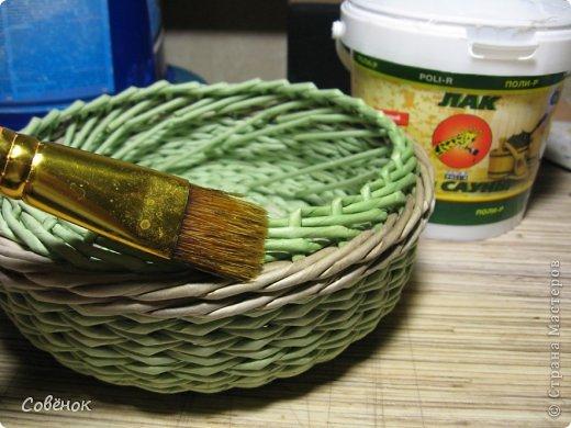 Мастер-класс Плетение: МК - Шкатулка из бумаги. Бумага газетная, Трубочки бумажные. Фото 69