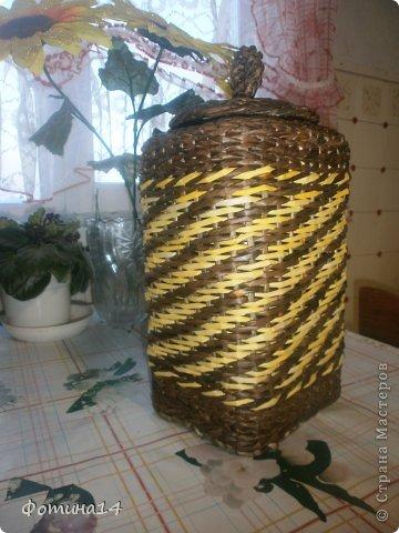 Поделка, изделие Плетение: Разное Трубочки бумажные. Фото 4