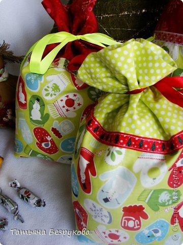 Шитьё: Мешочки для подарка.. Ткань Новый год. Фото 2
