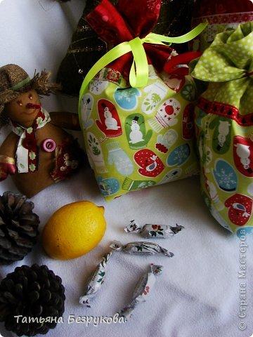 Шитьё: Мешочки для подарка.. Ткань Новый год. Фото 3