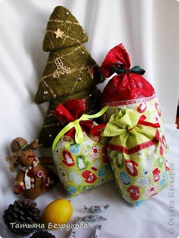 Шитьё: Мешочки для подарка.. Ткань Новый год. Фото 4
