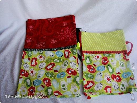 Шитьё: Мешочки для подарка.. Ткань Новый год. Фото 5