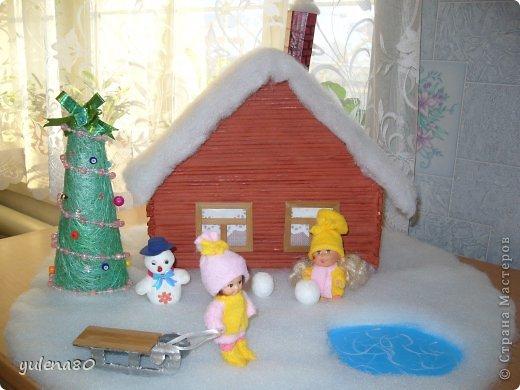 Новогодние каникулы в деревне Материал бросовый Новый год. Фото 1