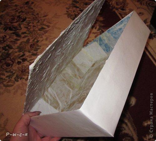 Мастер-класс Аппликация: Книга шкатулка (1часть) Бумага, Гуашь, Картон 8 марта, День учителя, Начало учебного года, Новый год. Фото 9