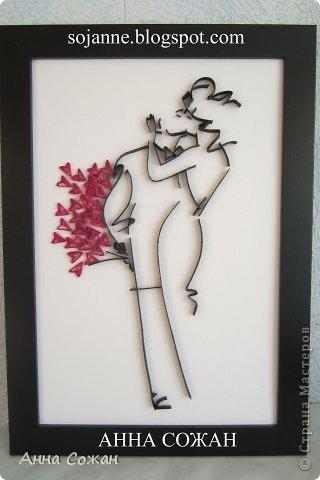 Картина, панно, рисунок Квиллинг: Подарки к Новому году Бумага, Бумажные полосы, Картон Новый год. Фото 1