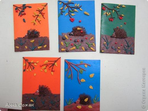 Картина, панно, рисунок Аппликация из пластилина (+ обратная), Лепка: Работы моих ПЛАСТИЛИНят! Картон, Пластилин. Фото 3