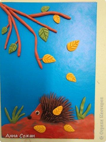 Картина, панно, рисунок Аппликация из пластилина (+ обратная), Лепка: Работы моих ПЛАСТИЛИНят! Картон, Пластилин. Фото 1