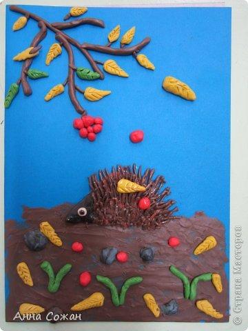 Картина, панно, рисунок Аппликация из пластилина (+ обратная), Лепка: Работы моих ПЛАСТИЛИНят! Картон, Пластилин. Фото 2