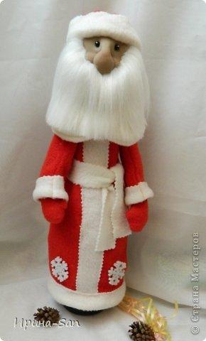 Игрушка, Куклы Шитьё: Подготовка к Новому году. Картина 1-ая, флисовая ))) Капрон, Ткань Новый год. Фото 1