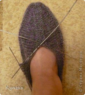 Мастер-класс Вязание: Следочки-черевички Пряжа. Фото 9
