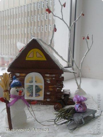 Поделка на конкурс.Сказочный домик Новый год. Фото 3