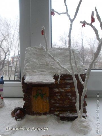 Поделка на конкурс.Сказочный домик Новый год. Фото 4