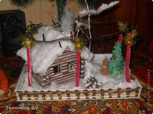 новогодний дворик Деда Мороза Бумага, Вата Новый год. Фото 17