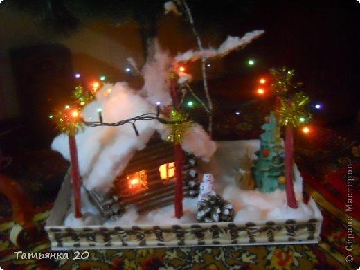 новогодний дворик Деда Мороза Бумага, Вата Новый год. Фото 20