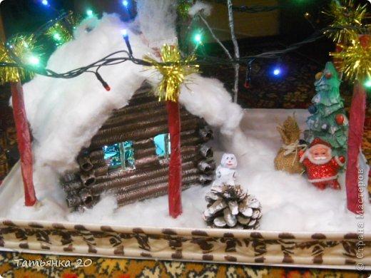 новогодний дворик Деда Мороза Бумага, Вата Новый год. Фото 1