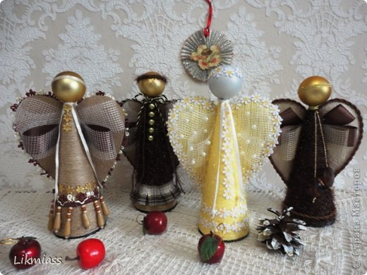 Куклы, Мастер-класс, Поделка, изделие: РОЖДЕСТВЕНСКИЕ АНГЕЛЫ МК Новый год, Рождество. Фото 1