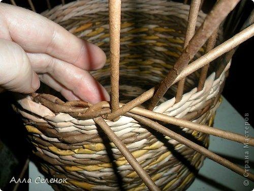 Мастер-класс, Поделка, изделие Плетение: МК загибки. Бумага газетная, Трубочки бумажные Отдых. Фото 7