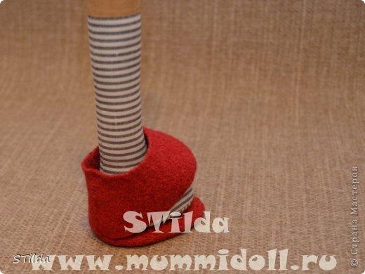 Куклы, Мастер-класс, Поделка, изделие Конструктор, Шитьё: Как изготовить обувь на плоской подошве для текстильной куклы Ткань. Фото 13