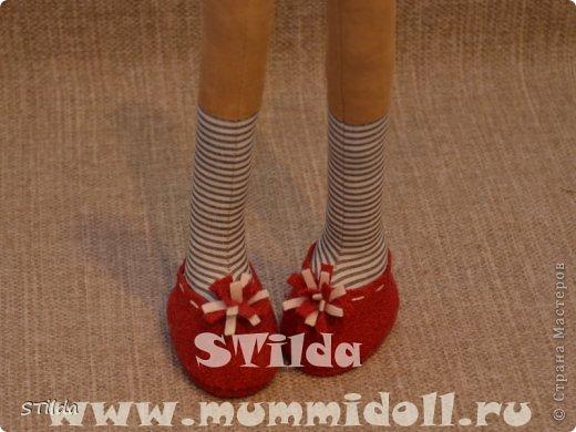 Куклы, Мастер-класс, Поделка, изделие Конструктор, Шитьё: Как изготовить обувь на плоской подошве для текстильной куклы Ткань. Фото 1