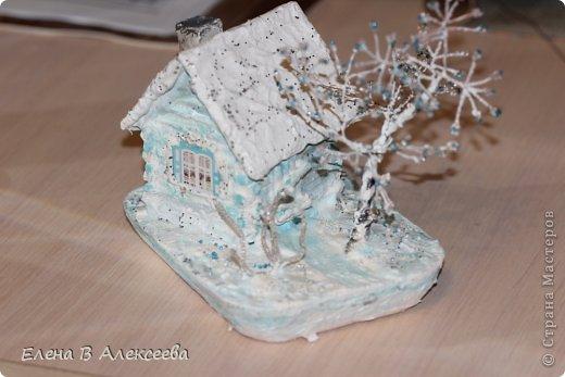 зимняя сказка Гипс, Гуашь, Проволока Новый год. Фото 6