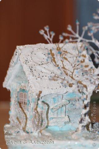 зимняя сказка Гипс, Гуашь, Проволока Новый год. Фото 7