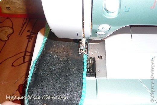 Мастер-класс Вязание крючком: МК тёплых тапочек. Кожа, Пряжа. Фото 21