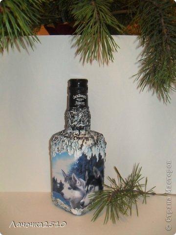Декор предметов Декупаж: для охотника Бутылки стеклянные 23 февраля. Фото 6