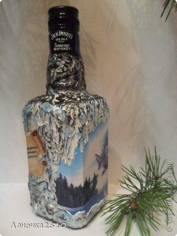 Декор предметов Декупаж: для охотника Бутылки стеклянные 23 февраля. Фото 5