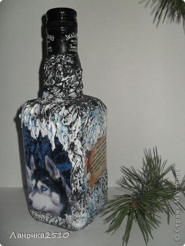 Декор предметов Декупаж: для охотника Бутылки стеклянные 23 февраля. Фото 3
