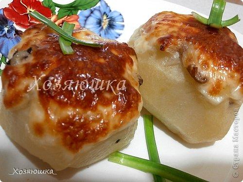Кулинария, Мастер-класс Рецепт кулинарный: Картошка, фаршированная грибами Продукты пищевые