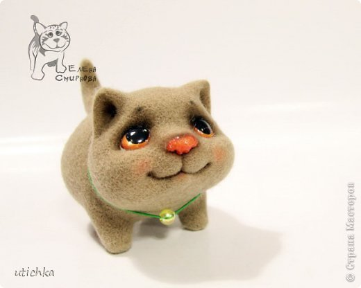 Игрушка Валяние (фильцевание): Котёнок Фернандо. Шерсть. Фото 1