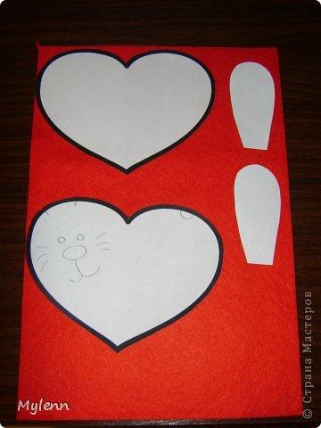 Мастер-класс Шитьё: Ко Дню Всех Влюблённых:)Маленький МК Фетр Валентинов день. Фото 3