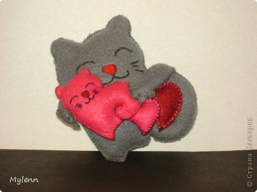 Мастер-класс Шитьё: Saint Valentain`s Cats Фетр Валентинов день. Фото 7