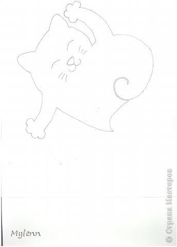 Мастер-класс Шитьё: Saint Valentain`s Cats Фетр Валентинов день. Фото 8