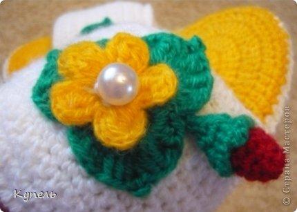 Мастер-класс Вязание крючком: Вязаные шлёпки Пряжа 8 марта. Фото 16